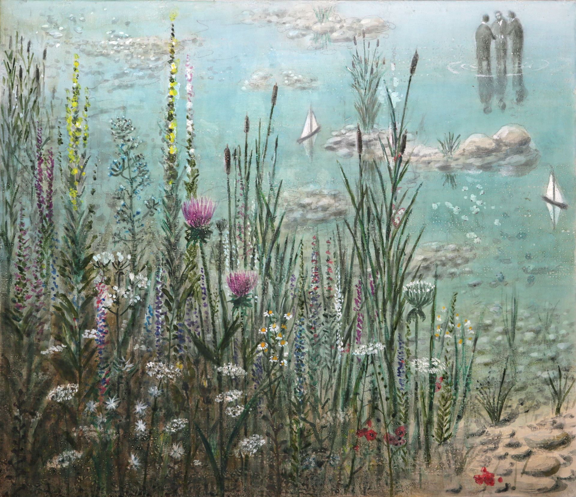 Trame d'Acqua, dipinto di Gianni del Bue