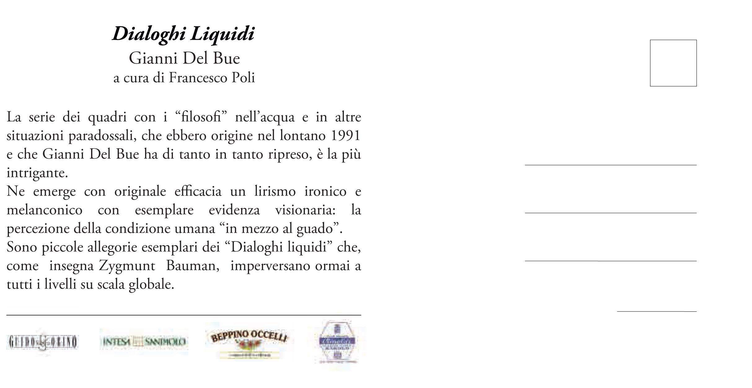 """Invito mostra """"Dialoghi Liquidi"""""""
